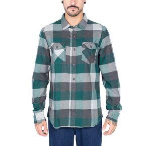 Camisa Box Flannel Vans Trekking Green-Grey Heather