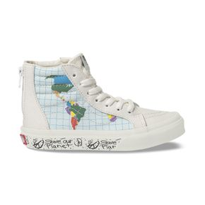 Zapatillas Youth Sk8-Hi Zip (5 a 12 años) (Save Our Planet) Classic White/Multi