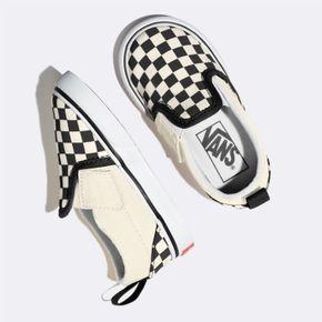 Zapatillas Td Slip-On V Toddler (1-4 años) (Checkerboard) Black/White