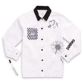 Chaqueta Make Me Your Own Drill Chore Coat White