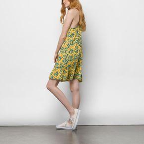 Vestido Maria Flutter Dress Yolk Electric Floral