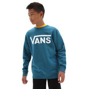 Polerón Vans Classic Crew Boys Youth (5 a 12 años) Moroccan Blue-White