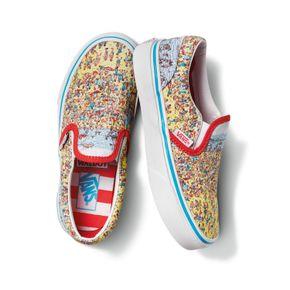 Zapatillas Uy Classic Slip-On Youth (5 a 12 años) (Where'S Waldo?) Find Steve/Beach