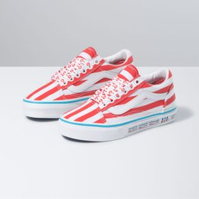 Zapatillas Uy Old Skool Youth (5 a 12 años) (Where'S Waldo?) International/Stripes