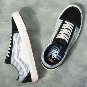 Zapatillas Mn Bmx Old Skool (Federal) Black/Blue Pinstripe