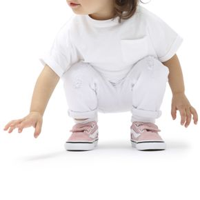 Zapatillas Td Old Skool V Toddler (1-4 años) Powder Pink/True White