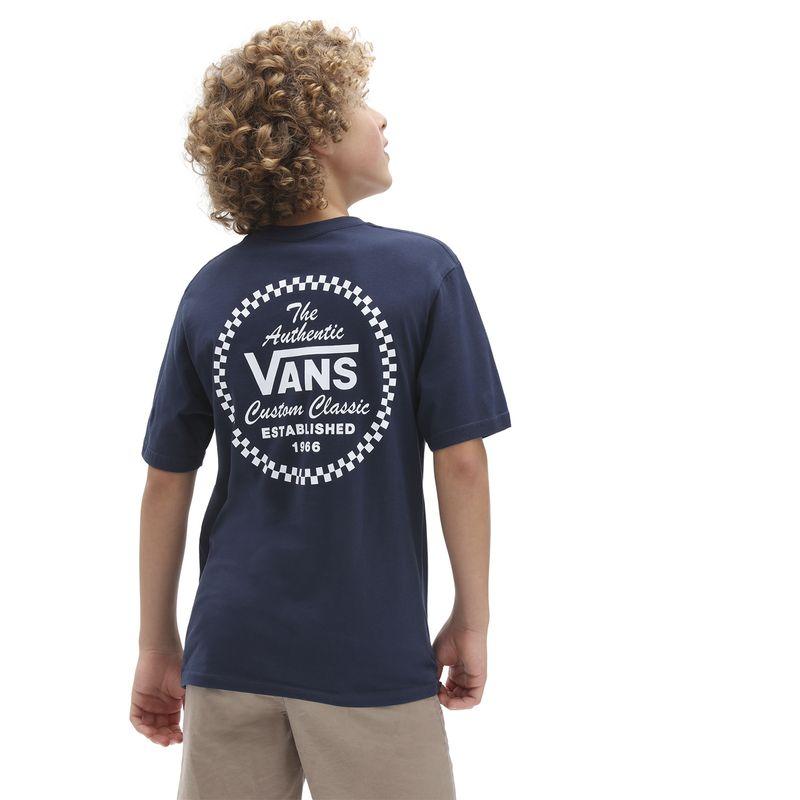Polera-Vans-Custom-Classic-Ss-Boys-Youth--5-a-12-años--Dress-Blues