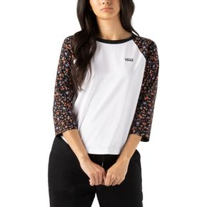 Polera Bed Of Roses White-Covered Ditsy
