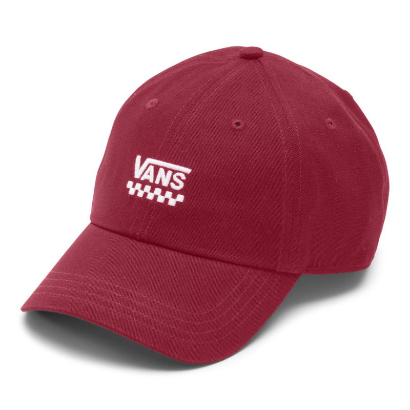 Jockey-Court-Side-Hat-Pomegranate