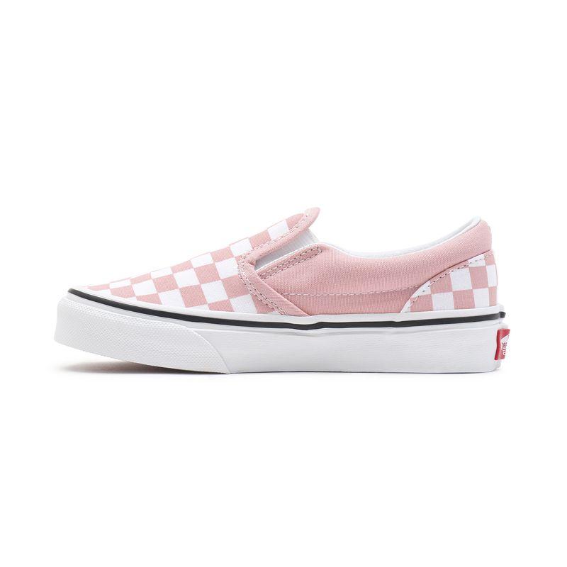 Zapatillas-Uy-Classic-Slip-On-Youth--5-a-12-años---Checkerboard--Powder-Pink-True-White