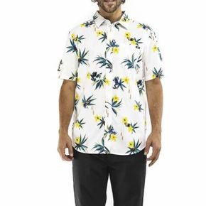Camisa Dart Floral Woven Ss White-Dart Floral
